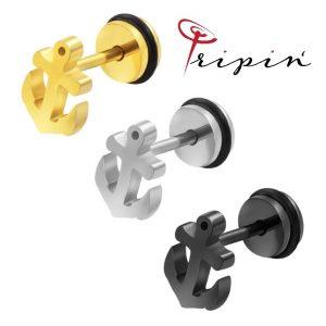 Обеци от неръждаема стомана Tripin' Cute pins – Anchor, снимка 1