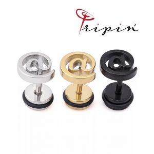 Обеци от неръждаема стомана Tripin' Cute pins - @, снимка 1