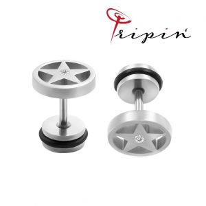 Обеци от неръждаема стомана Tripin' Cute pins - Stars, снимка 1