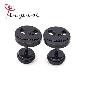 Обеци от неръждаема стомана Tripin' Cute pins - Evil smile, снимка 1