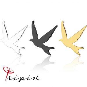 Обеци от неръждаема стомана Tripin' Sweet and fresh - Bird, снимка 1
