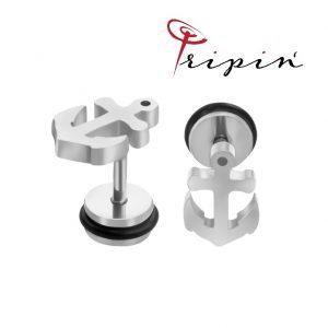 Обеци от неръждаема стомана Tripin' Cute pins – Anchor, снимка 2