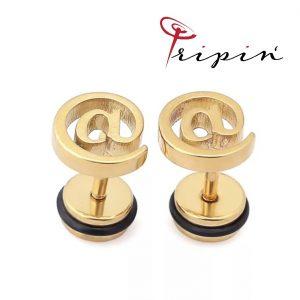 Обеци от неръждаема стомана Tripin' Cute pins - @, снимка 2