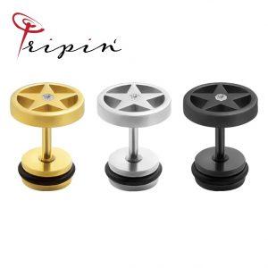 Обеци от неръждаема стомана Tripin' Cute pins - Stars, снимка 3