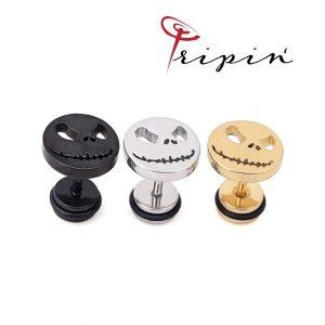 Обеци от неръждаема стомана Tripin' Cute pins - Evil smile, снимка 2