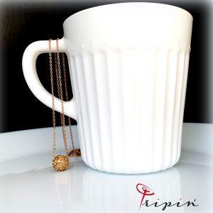 Колие от неръждаема стомана Tripin' Simple tenderness – Rose gold, снимка 3