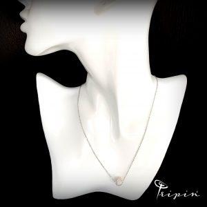 Колие от неръждаема стомана Tripin' Simple tenderness – White, снимка 2