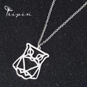Колие от неръждаема стомана Tripin' Origami – Бухалче, снимка 1
