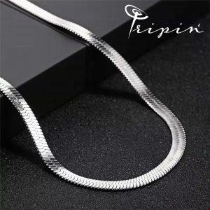 Колие тип 'верига' от неръждаема стомана Tripin' Just chain – TJC Model 7, снимка 6